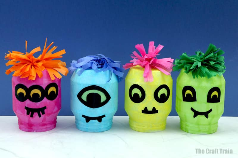 DIY monster lanterns for halloween