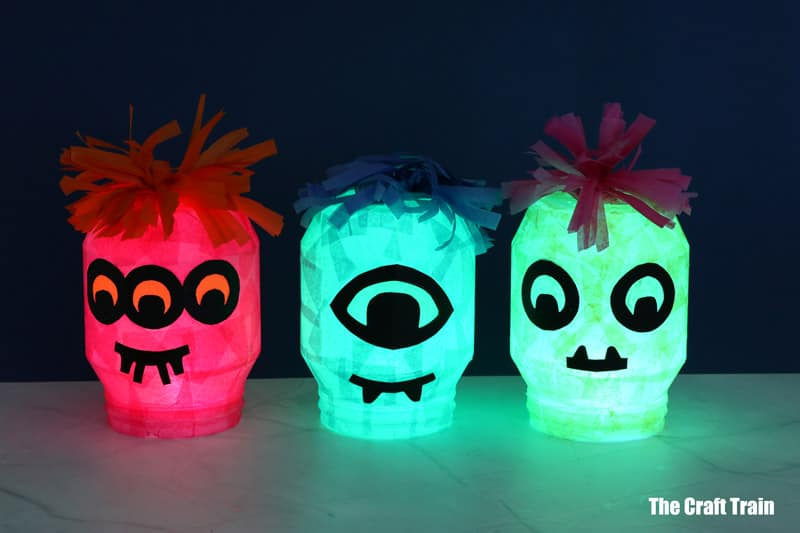 Monster luminaries for halloween DIY